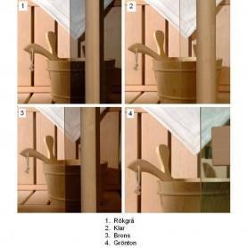 Saunofenster Größe 5x19 Saunofenster 5x19 Bronzefarbenes Glas, mit Alurahmen