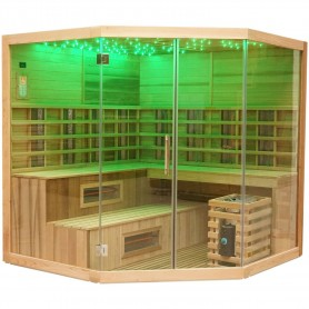 Ausgehende Produkte Multib Sauna Corner 6-7 Personen Sauna Außenabmessungen: Länge: 2060 mmHöhe: 2000 mmBreite: 2060 mmAusverkau