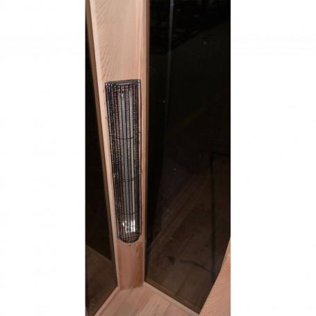 Ausgehende Produkte Sauna SunHeat Sauna Außenabmessungen: Länge: 1300 mmHöhe: 1980 mmTiefe: 1000 mmLieferzeit: Nicht auf LagerFr