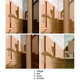 Saunofenster Größe 5x9 Saunofenster 5x9 Klarglas mit Asp-Rahmen