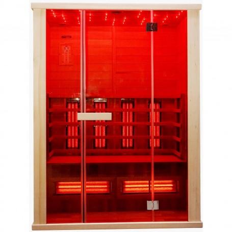 Sauna Infrarot für 3-4 Pers. Sonnenwärme 3 Personen Infrasauna für 3 PersonenGröße: 1500 x 1000 x 1980 mmHolz: Cedar Heat