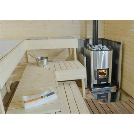 Narvi Holzofen Narvi NC 16 Edelstahl Für SaunagrößeBastongröße 8-16 m3Möblierte EinheitBauholzmöbliert mit