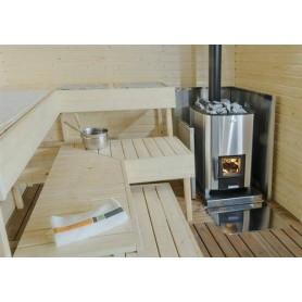 Holz-Saunaofen Narvi Narvi NC 20 Stainless Für SaunagrößeBastongröße: 8-20 m3