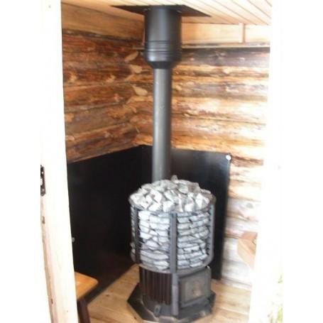 Zubehör für einen beheizten Saunaofen Wandschutzplatte Schwarz 800x1000