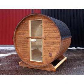 Ausgangsprodukte Holz-Saunafass Tanne 2,3 m unmontiert