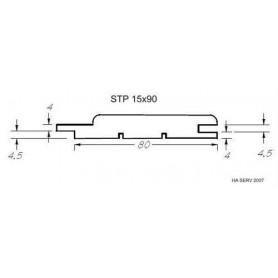 Wärmebehandeltes ASP 15x90 Saunapaneel aus wärmebehandeltem Espenholz. 15x90mm Länge: 1,8 m, 6 Stück Länge: 1,8 m, 6 Stück