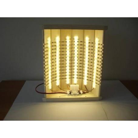Beleuchtung Saunalampe mit Gelenken. Asp, gerade Wand.