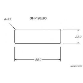 Wärmebehandelte ASP 28x90 Sauna aus wärmebehandelter Espe 28x90mm Länge: 2,7 m Länge: 2,7 m