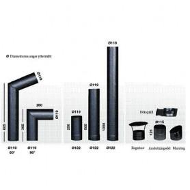 Schornsteine und Rauchrohre für Saunaöfen Narvi Rauchrohre 200 / 250mm