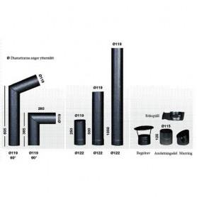 Schornsteine und Rauchrohre für Saunaöfen Narvi Rauchrohre 950 / 1000mm
