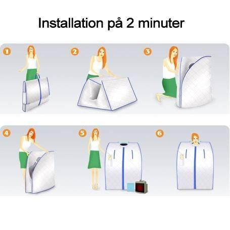 Tragbare Infrarotsauna einfach zu installieren