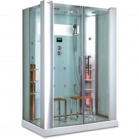 Duschkabine Infrarot InfraShower Aqua Silver 2 Personen Außenmaße.Länge: 1450mmHöhe: 2150mmBreite: 900mmAusverkauft! Produkt