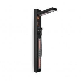 Duschkabine Infrarot IR- Duschset schwarz Maße Länge: 690 mmHöhe: 1900 mmBreite: 24,8 mm Auslaufartikel!