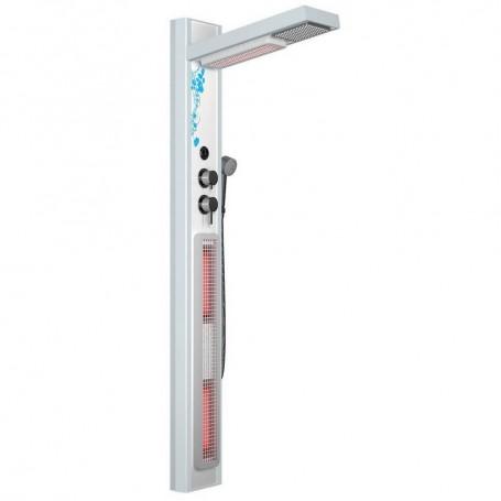 Duschkabine Infrarot IR- Duschset weiß Maße Länge: 690 mm Höhe: 1900 mm Breite: 24,8 mm Lieferzeit: 2-3 Tage (Lieferbar)