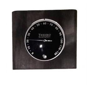 Thermo- und Hygrometer Hygrometer aus schwarz glasierter Birke