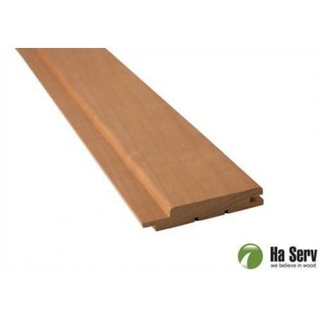 Wärmebehandeltes ASP 15x90 Saunapaneel aus wärmebehandeltem Espenholz. 15x90mm Länge: 2.1m. 6pcs / pts Länge: 2.1m. 6pcs / pct