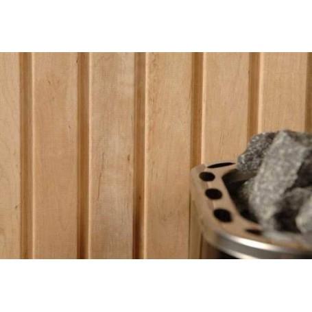 Saunapaneel AL 15x90 Saunapaneel al. 15x90mm Länge: 2,7 m, 6 Stück Länge: 2,7 m, 6 Stück