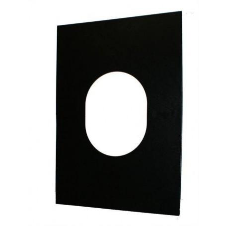 Kaminzubehör für Saunaöfen Abdeckplatte zur Befestigung der Gummidose an. schwarz