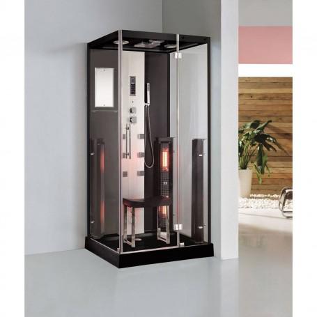 Duschkabine Infrarot InfraShower Aqua Black-Single Außenmaße.Länge: 1000mmHöhe: 2150mmBreite: 900mmAusverkauft! das Produkt