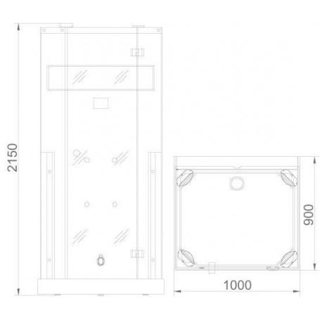 Duschkabine Infrarot InfraDusch Medley gerade Ausführung Außenmaße.Länge: 1000mmHöhe: 2150mmTiefe: 900mmAusverkauft! Das Produkt