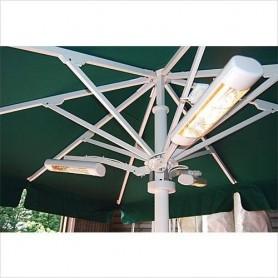 Heizpilz Heatlight Sonnenschirm Arm Weiß