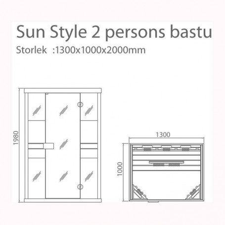"Ausgehende Infrarotsauna Sun Style """""