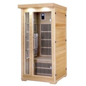 IR-Sauna für 1 Person. Größe: 900 x 900 x 1900 mm