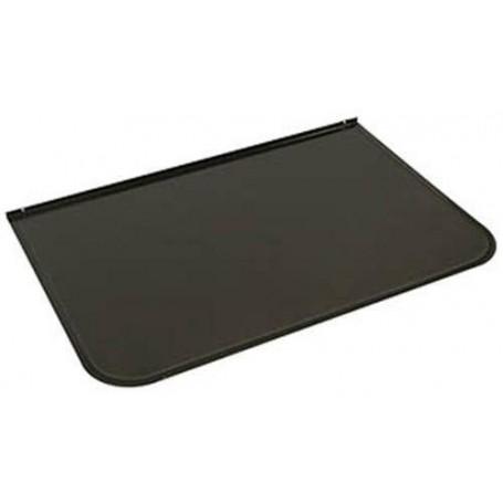 Zubehör für einen beheizten Saunaofen Frontplatte / Funkenschutz Grau Schwarz 700x400 mm