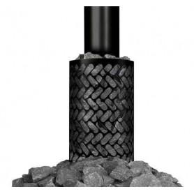 Zubehör Holz-Saunaofen Steinkorb schwarz (runde Rauchpfeife)