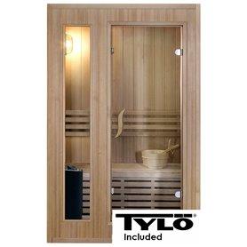 Sauna Traditional Classic für 2 Personen Traditionelle Sauna für 2 Personen. Größe: 1200 x 1100 x 1900 mmHolz: Saumdeckel