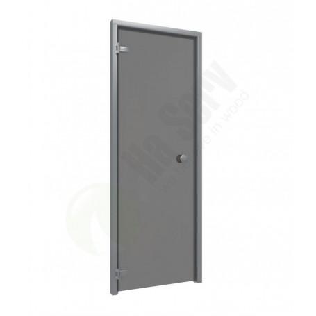 Saunatüren Größe 7x20 Saunatür 7x20 Aluminiumrahmen mit grauem Glas Rauchgrauer Glasrahmen aus Aluminium