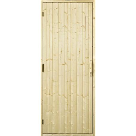 Holzsaunatür Holzsaunatür, 9x21 ohne Fenster Tanne