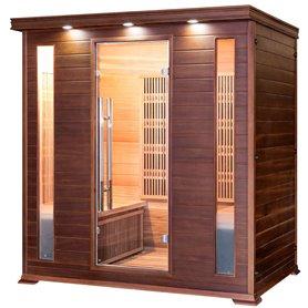 Sauna Infrarot für 3-4 Personen Apollon Turmalin 4 Personen Infrasauna für 4 PersonenGröße: 1750 x 1200 x 1900 mmHolz: Ce