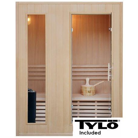 Sauna Traditional Classic für 3 Personen Traditionelle Sauna für 3 Personen. Größe: 1530 x 1100 x 1900 mmHolz: Hemlock
