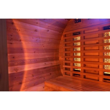 Außensauna Infrarotsauna-Bar aus Zedernholz mit Infrarotsauna dünn für 3 Personen Größe: 2024 x 1500 x 2070 m