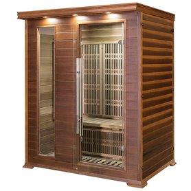 Sauna Infrarot für 3-4 Personen Apollon Turmalin 3 Personen Infrasauna für 3 PersonenGröße: 1530 x 1100 x 1900 mmHolz: Ce