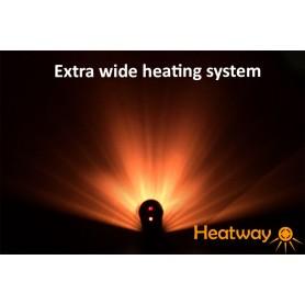Heizpilz HeatWay Cylindro 2000W Silber