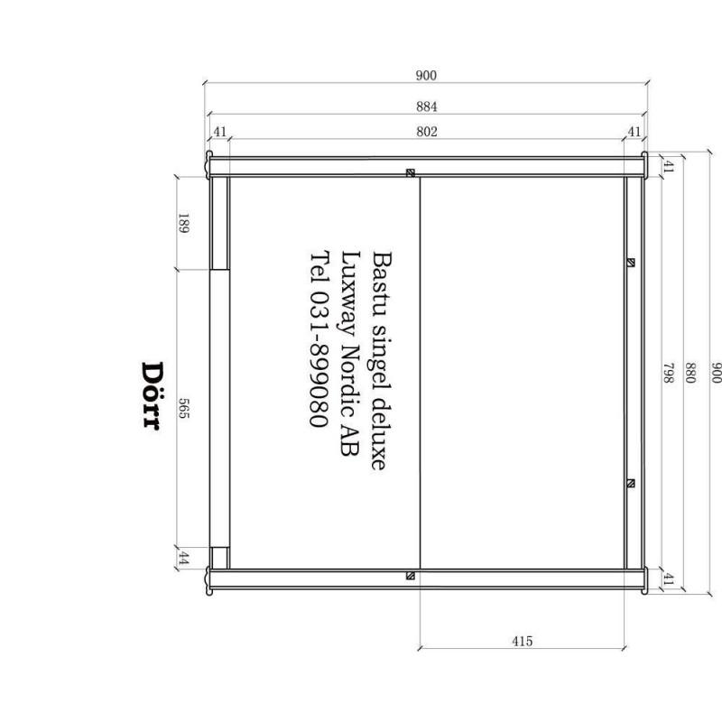 Ausgehende Produkte Single Harmoni Delux Cedar Sauna