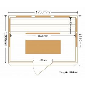 Sauna Apollon Turmalin für 4 Personen
