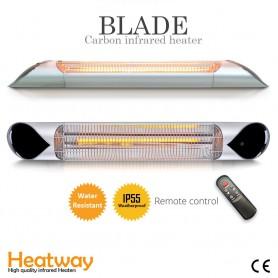 Terrassenstrahler Blade Silver 2000W Infrarotstrahler