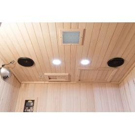 Ausgestattet mit Farbtherapie, Bluetooth-Musiksystem, Leselampen und Luftreiniger mit Ionisations- und Ozonfunktion.