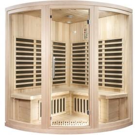 Eck-Sauna Infrarot-Wellness Eck-Hemlock-Infrasauna für 4 PersonenGröße: 1550 x 1550 x 1980 mmHolz: HemlockVärmesys