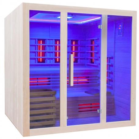 Sauna mit Infrarot-Heiztechnik