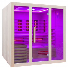 Starten Sie die Sauna mit einem einfachen Knopfdruck auf der Fernbedienung