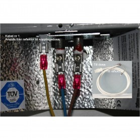 Elektrische Anschlüsse und Verbinder Elektrokabel vom Reflektor zur Anschlussdose TYP 1