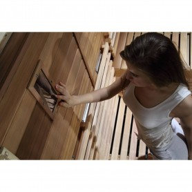 Ausgangsprodukte Sauna Relax Lux Saumdeckel Außenabmessungen.Länge: 2100 mmHöhe: 2000 mmBreite: 1400 mmAusverkauft: Berechnet l