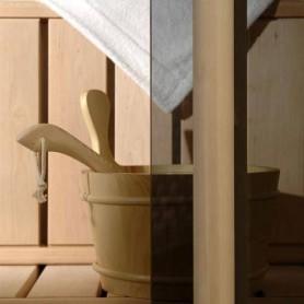 Saunatür Größe 9x21 Saunatür 9x21 Classic mit Bronzeglas und Kiefernrahmen